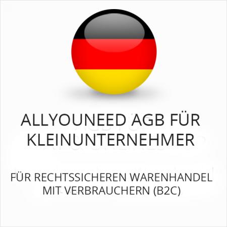 Allyouneed AGB für Kleinunternehmer B2C