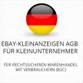 Abmahnsichere Ebay-Kleinanzeigen AGB für Kleinunternehmer