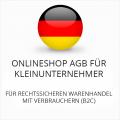 Abmahnsichere Onlineshop AGB für Kleinunternehmer