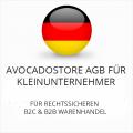 Avocadostore AGB für Kleinunternehmer B2C und B2B