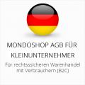 Abmahnsichere Mondoshop AGB für Kleinunternehmer