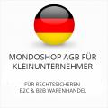Abmahnsichere Mondoshop AGB für Kleinunternehmer B2C und B2B