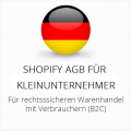 Abmahnsichere Shopify AGB für Kleinunternehmer