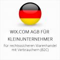 Rechtssichere WixCom AGB für Kleinunternehmer