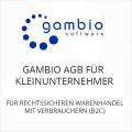 Gambio AGB für Kleinunternehmer B2C