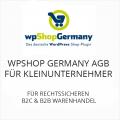 wpShopGermany AGB für Kleinunternehmer B2C und B2B