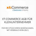 xt Commerce AGB für Kleinunternehmer B2C