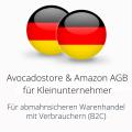 abmahnsichere Avocadostore und Amazon AGB für Kleinunternehmer