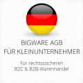abmahnsichere Bigware AGB B2C und B2B für Kleinunternehmer