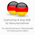 abmahnsichere Cosmoshop und Ebay AGB für Kleinunternehmer