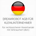 abmahnsichere Dreamrobot AGB für Kleinunternehmer