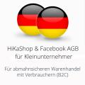 abmahnsichere HiKaShop und Facebook AGB für Kleinunternehmer