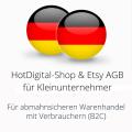 abmahnsichere HotDigital-Shop und Etsy AGB für Kleinunternehmer