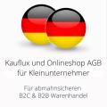 abmahnsichere Kauflux und Onlineshop AGB für Kleinunternehmer B2C und B2B