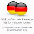 abmahnsichere Mädchenflohmarkt und Amazon AGB für Kleinunternehmer