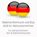abmahnsichere Mädchenflohmarkt und Etsy AGB für Kleinunternehmer B2C und B2B