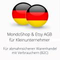 abmahnsichere MondoShop und Etsy AGB für Kleinunternehmer