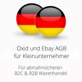 abmahnsichere Oxid und Ebay AGB für Kleinunternehmer B2C und B2B