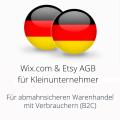 abmahnsichere Wixcom und Etsy AGB für Kleinunternehmer