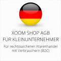 abmahnsichere Xoom Shop AGB für Kleinunternehmer