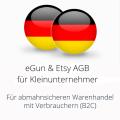 abmahnsichere eGun und Etsy AGB für Kleinunternehmer