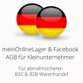 abmahnsichere meinOnlineLager und Facebook AGB für Kleinunternehmer B2C und B2B
