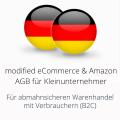 abmahnsichere modified eCommerce und Amazon AGB für Kleinunternehmer