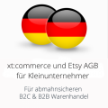abmahnsichere xtcommerce und Etsy AGB für Kleinunternehmer B2C und B2B