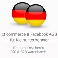 abmahnsichere xtcommerce und Facebook AGB für Kleinunternehmer B2C und B2B