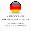 Abmahnsichere Abebooks AGB B2C und B2B für Kleinunternehmer