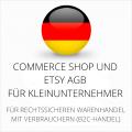 Abmahnsichere Commerce Shop und Etsy AGB für Kleinunternehmer