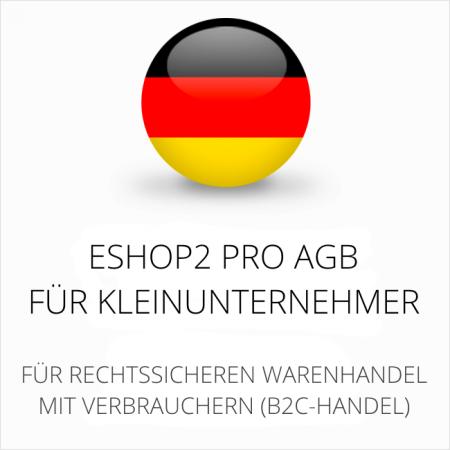 Abmahnsichere ESHOP2 Pro AGB für Kleinunternehmer