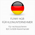 Abmahnsichere Flinky AGB B2C und B2B für Kleinunternehmer