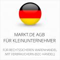 Abmahnsichere Markt.de AGB für Kleinunternehmer