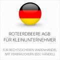 Abmahnsichere RoteErdbeere AGB für Kleinunternehmer