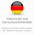Abmahnsichere Tomatocart AGB für Kleinunternehmer