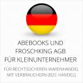 abmahnsichere Abebooks und Froschking AGB für Kleinunternehmer