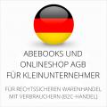 abmahnsichere Abebooks und Onlineshop AGB für Kleinunternehmer