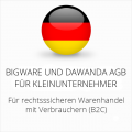 abmahnsichere Bigware und Dawanda AGB für Kleinunternehmer