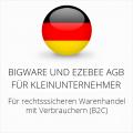 abmahnsichere Bigware und Ezebee AGB für Kleinunternehmer