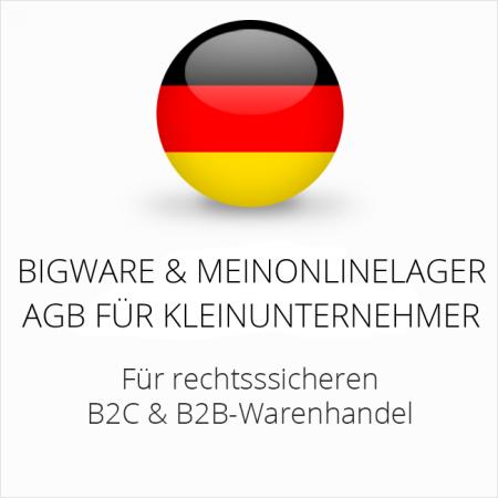 abmahnsichere Bigware und Meinonlinelager AGB B2C und B2B für Kleinunternehmer