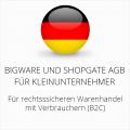 abmahnsichere Bigware und Shopgate AGB für Kleinunternehmer