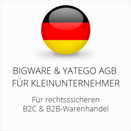 abmahnsichere Bigware und Yatego AGB B2C und B2B für Kleinunternehmer