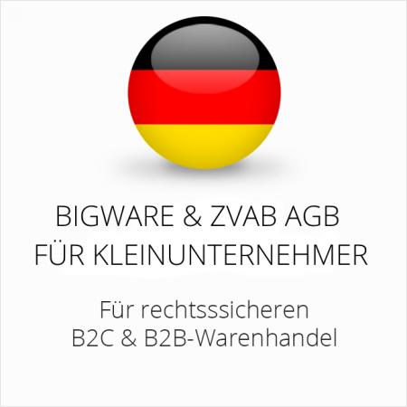 abmahnsichere Bigware und ZVAB AGB B2C und B2B für Kleinunternehmer