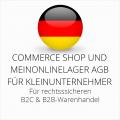 abmahnsichere Commerce Shop und MeinOnlineLager AGB B2C und B2B für Kleinunternehmer