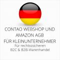 abmahnsichere Contao Webshop und Amazon AGB B2C und B2B für Kleinunternehmer