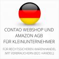 abmahnsichere Contao Webshop und Amazon AGB für Kleinunternehmer