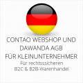 abmahnsichere Contao Webshop und Dawanda AGB B2C und B2B für Kleinunternehmer