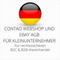 abmahnsichere Contao Webshop und Ebay AGB B2C und B2B für Kleinunternehmer