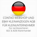 abmahnsichere Contao Webshop und Ebay-Kleinanzeigen AGB B2C und B2B für Kleinunternehmer
